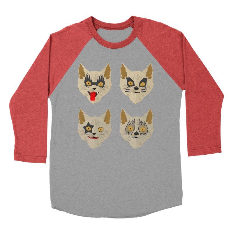 Cat Kiss Men's Baseball Triblend T-Shirt by SOE