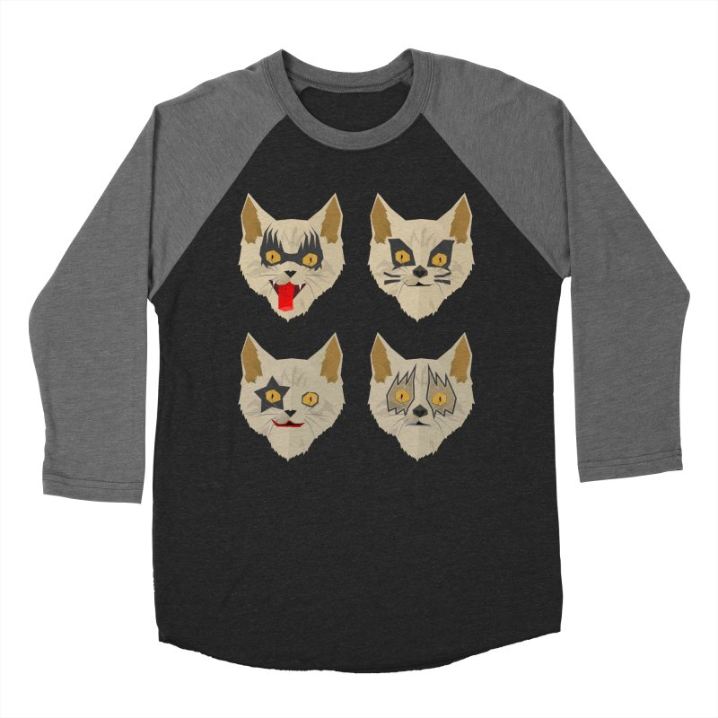 Cat Kiss Men's Baseball Triblend T-Shirt by SOE