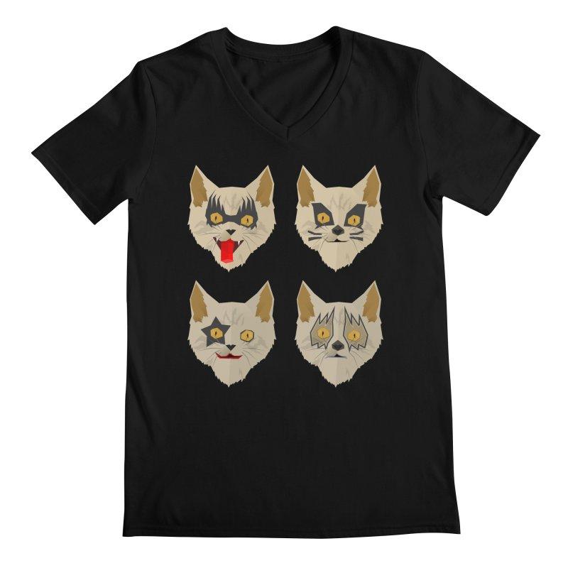 Cat Kiss Men's V-Neck by SOE