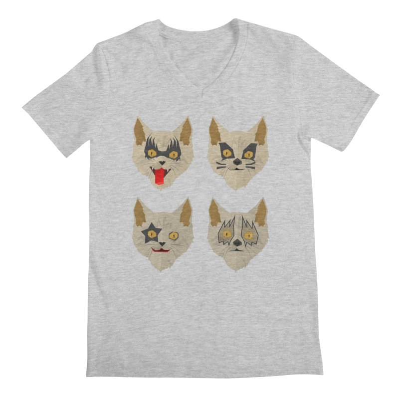 Cat Kiss Men's V-Neck by SOE
