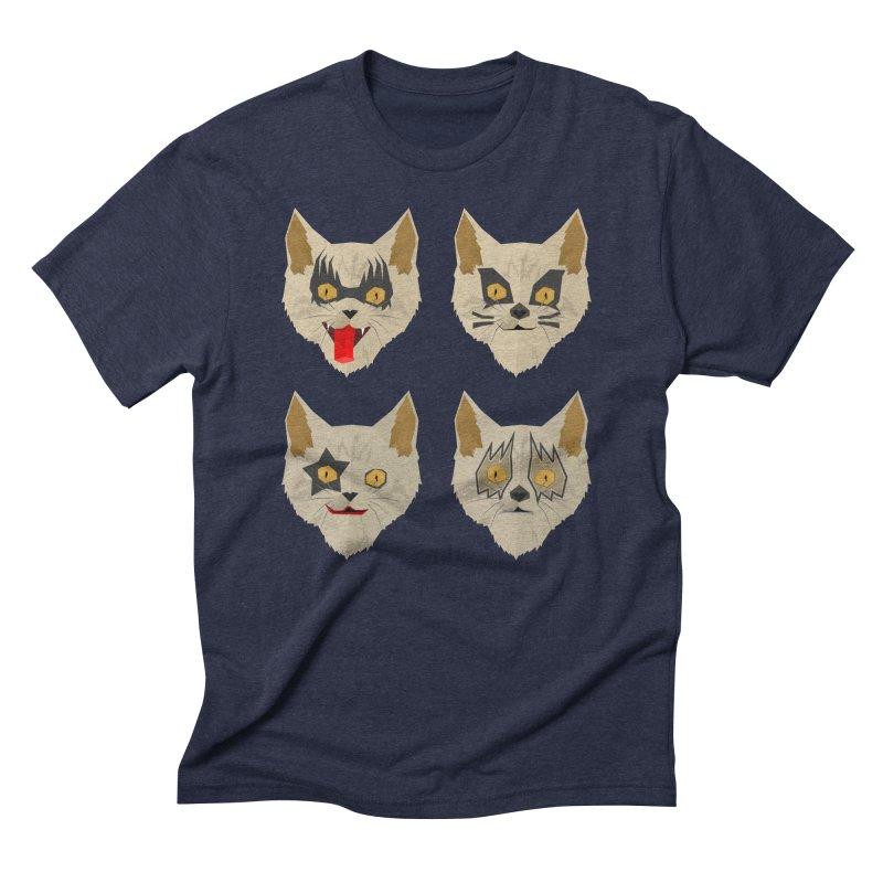 Cat Kiss Men's Triblend T-shirt by SOE