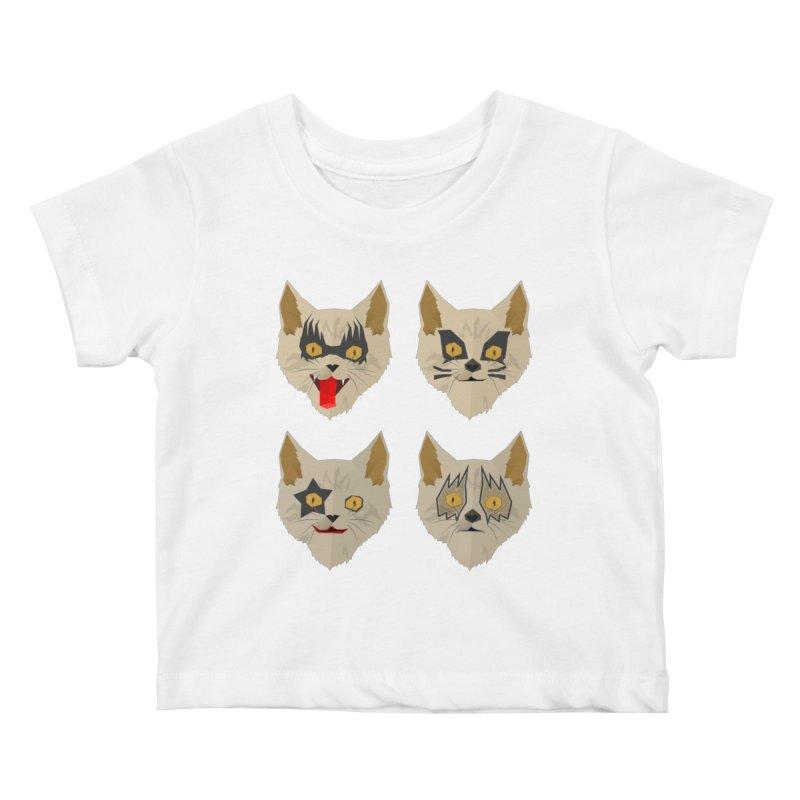 Cat Kiss Kids Baby T-Shirt by SOE
