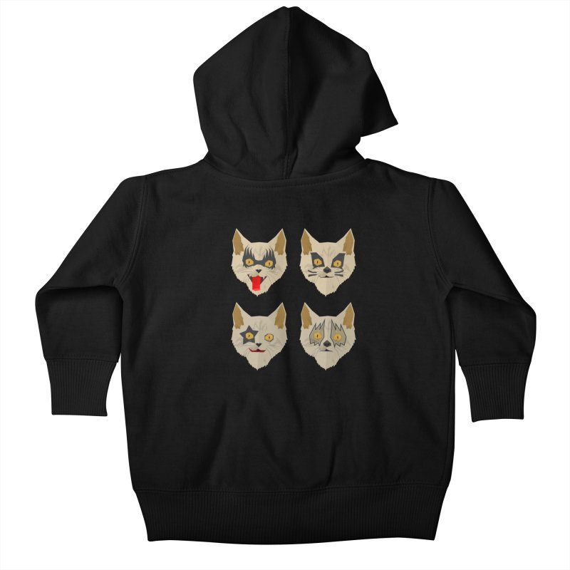 Cat Kiss Kids Baby Zip-Up Hoody by SOE
