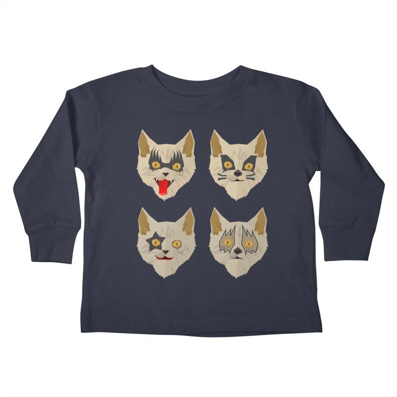 Cat Kiss Kids Toddler Longsleeve T-Shirt by SOE