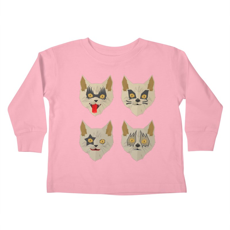Cat Kiss Kids Toddler Longsleeve T-Shirt by SOE