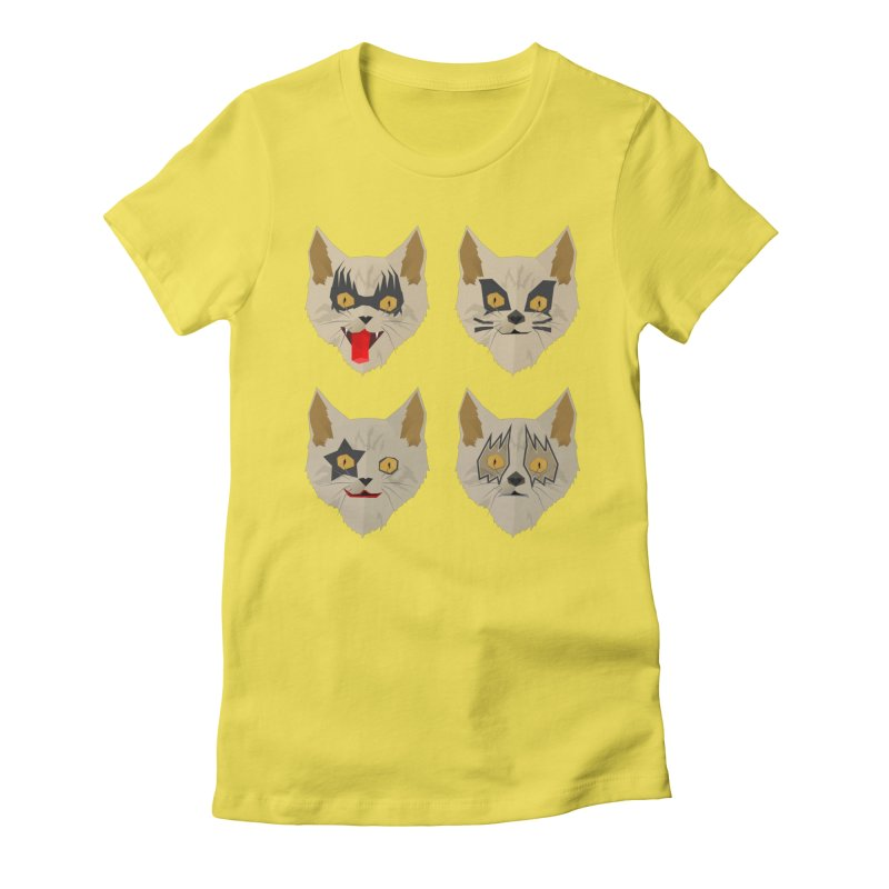 Cat Kiss Women's Fitted T-Shirt by SOE