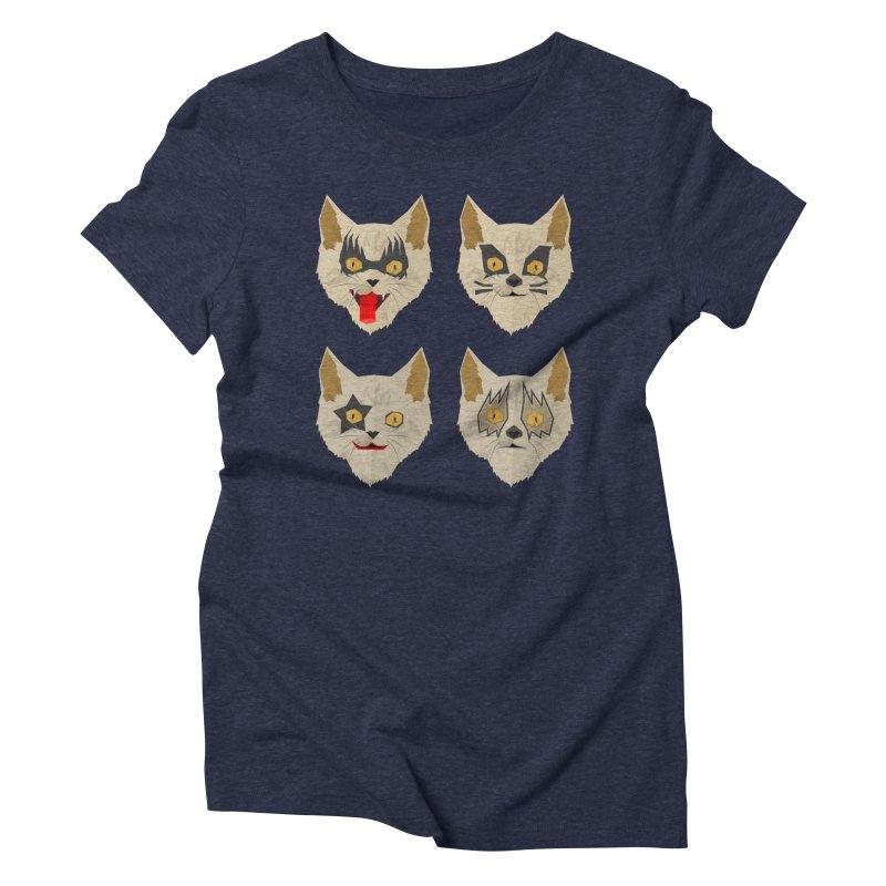 Cat Kiss Women's Triblend T-shirt by SOE
