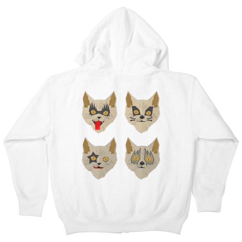 Cat Kiss Kids Zip-Up Hoody by SOE