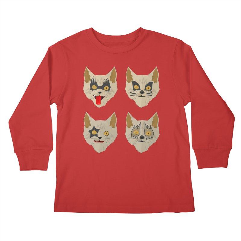 Cat Kiss Kids Longsleeve T-Shirt by SOE