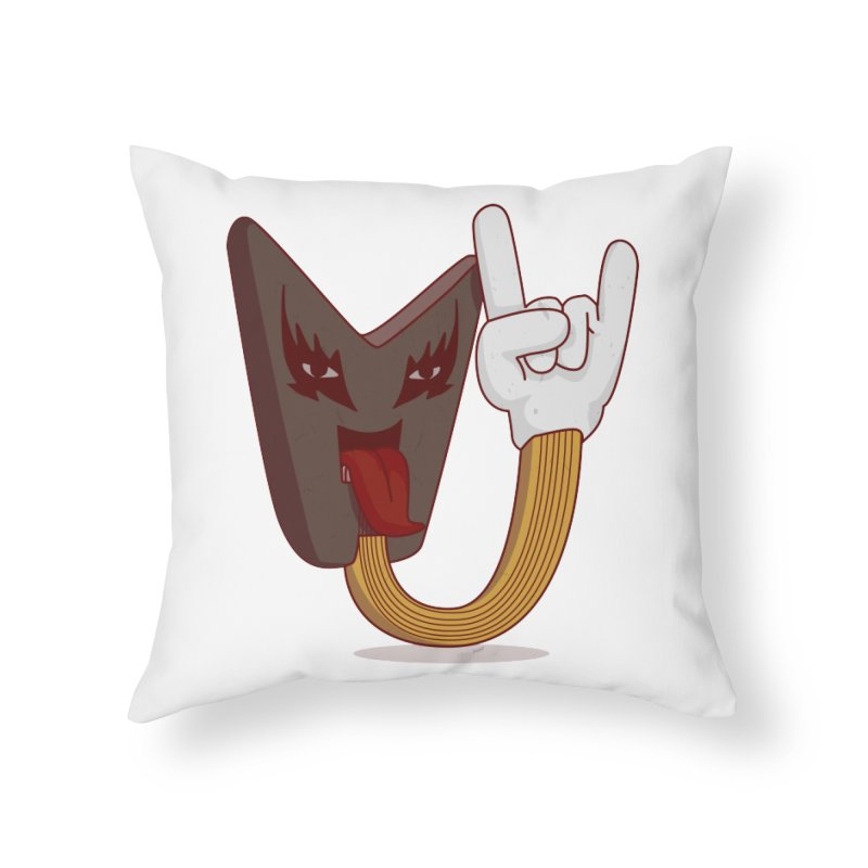 Metal! Home Throw Pillow by SOE