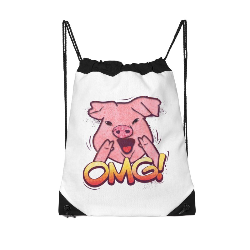 oh my god pig Accessories Drawstring Bag Bag by SOE
