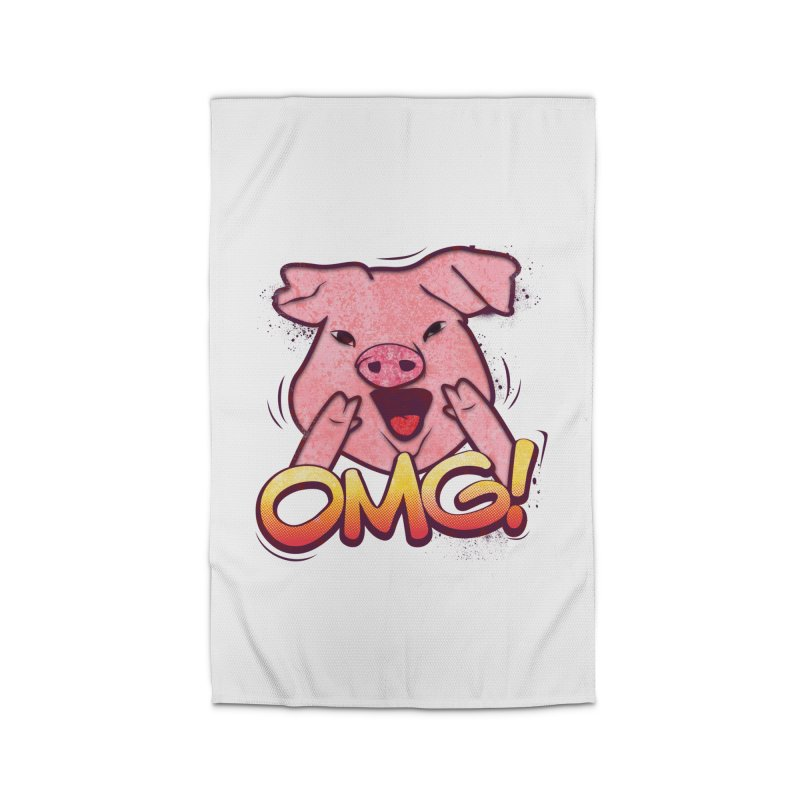 oh my god pig Home Rug by SOE