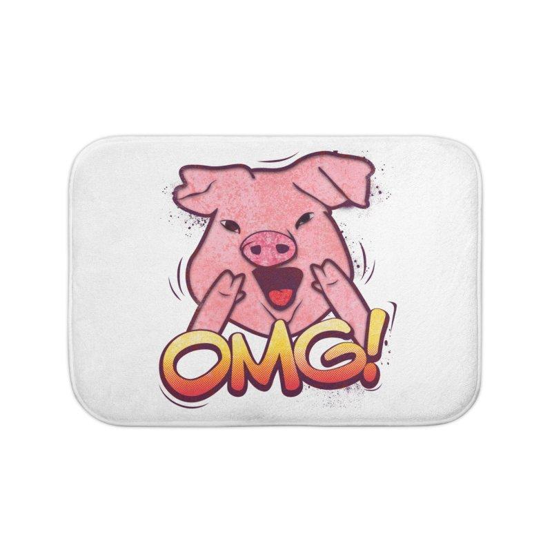 oh my god pig Home Bath Mat by SOE