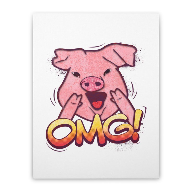 oh my god pig Home Stretched Canvas by SOE