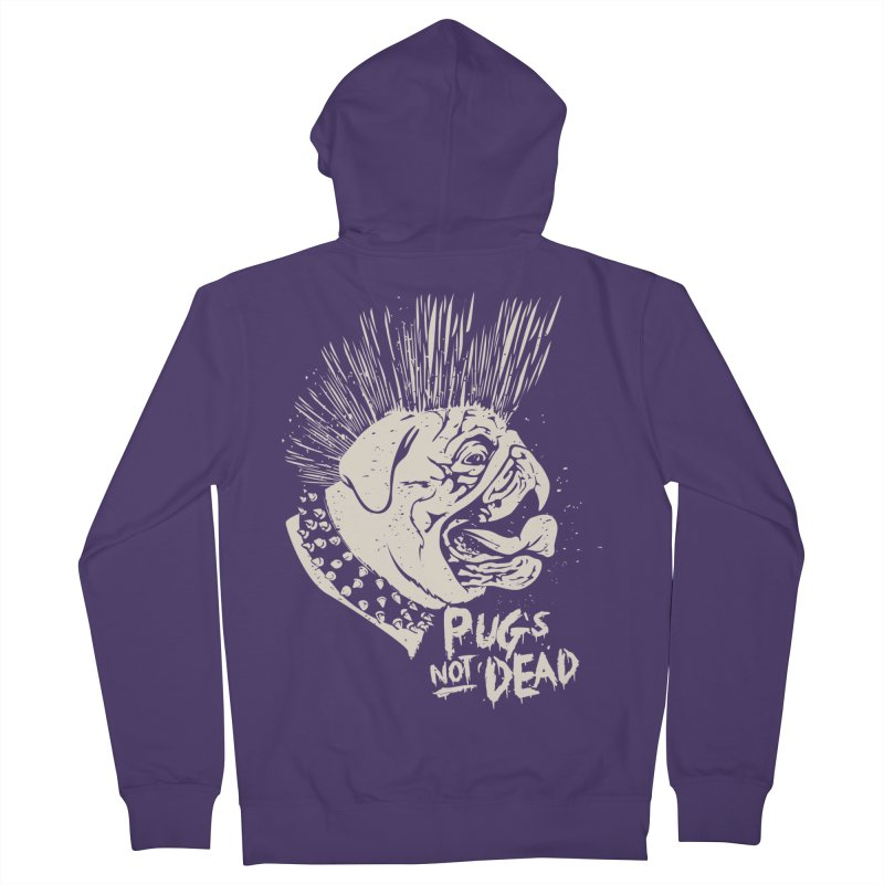pug's not dead Women's Zip-Up Hoody by SOE