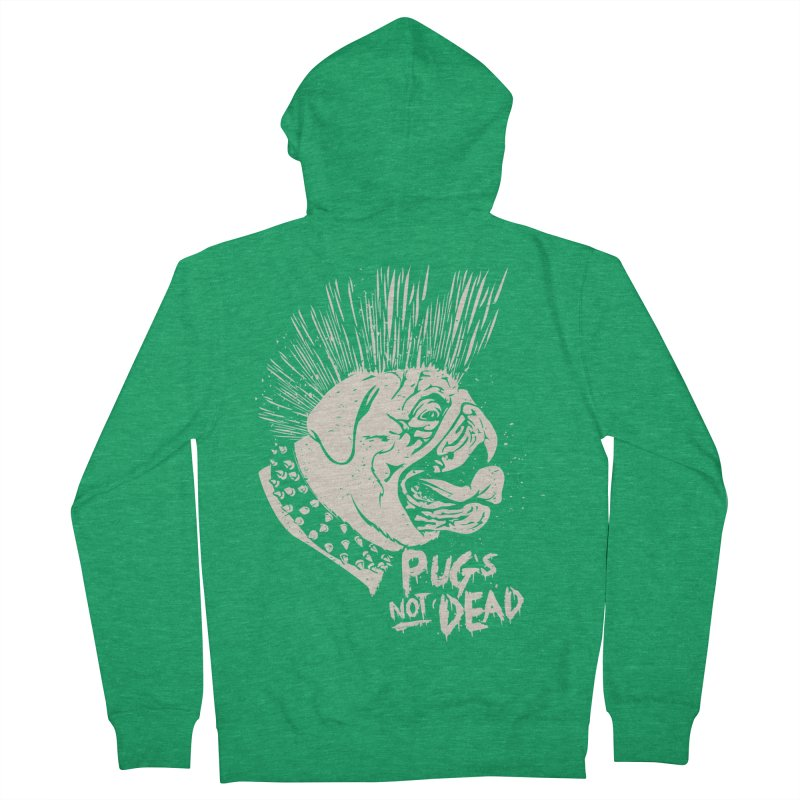pug's not dead Men's Zip-Up Hoody by SOE