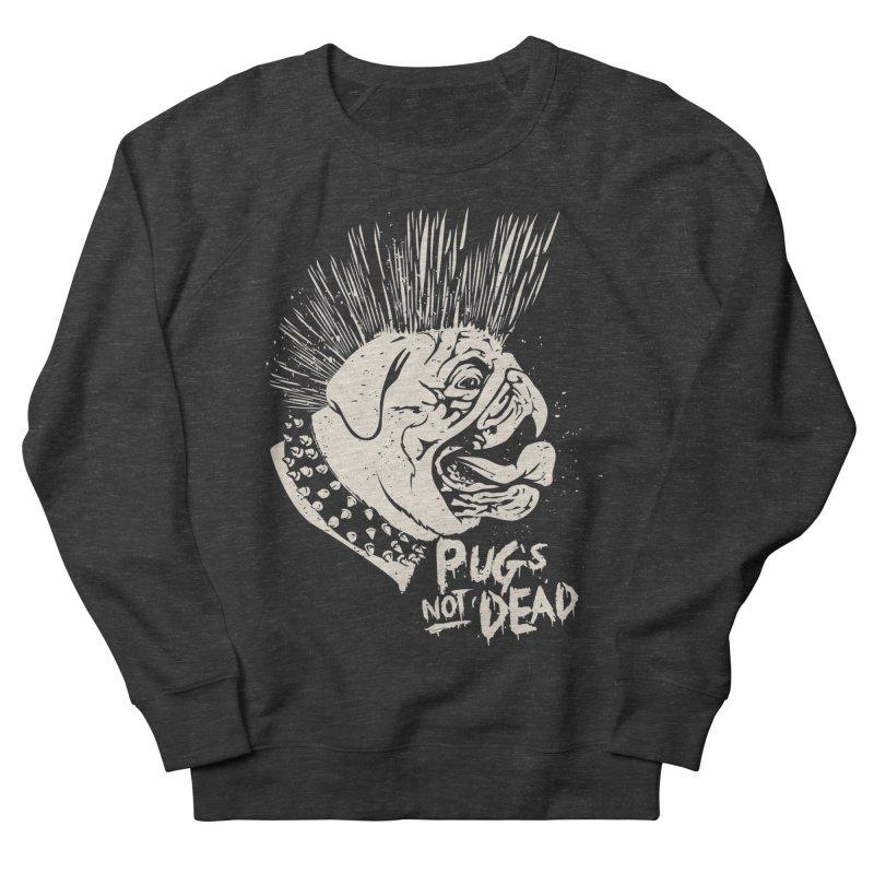 pug's not dead Women's French Terry Sweatshirt by SOE