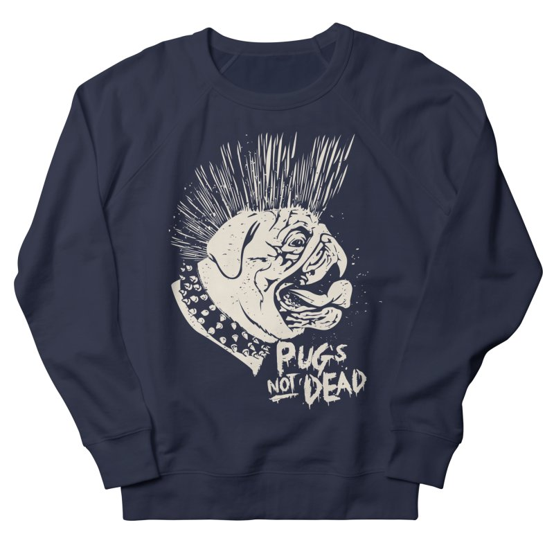 pug's not dead Men's French Terry Sweatshirt by SOE