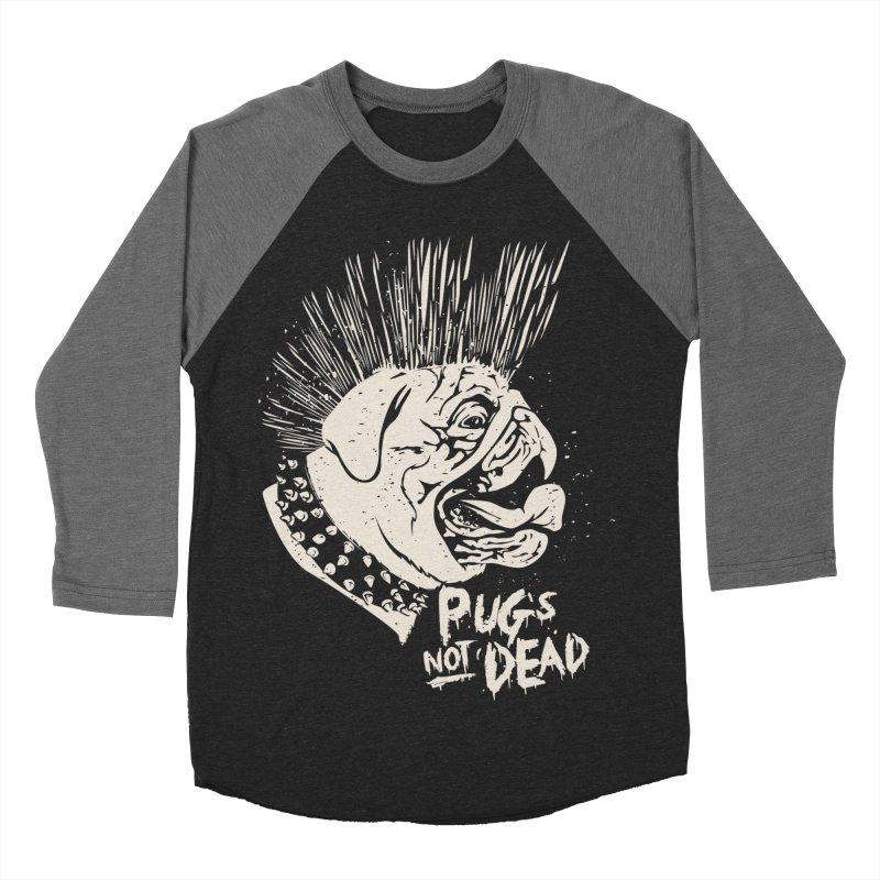 pug's not dead Women's Baseball Triblend Longsleeve T-Shirt by SOE