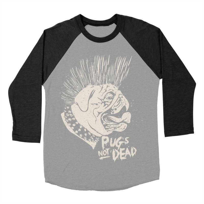 pug's not dead Women's Baseball Triblend Longsleeve T-Shirt by SOE