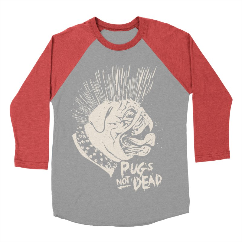 pug's not dead Men's Baseball Triblend T-Shirt by SOE