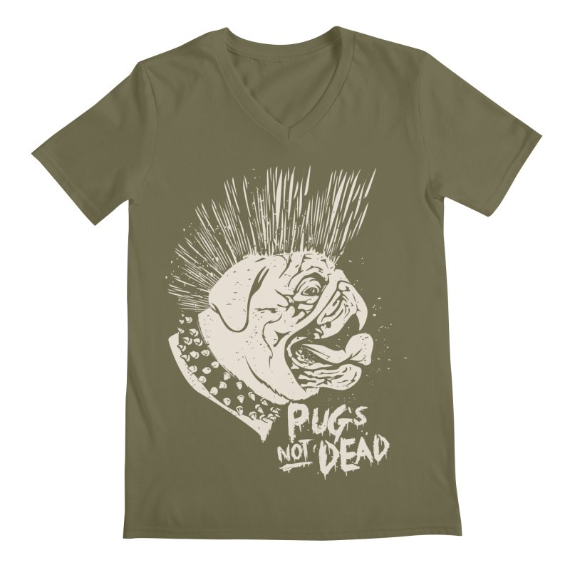 pug's not dead Men's V-Neck by SOE