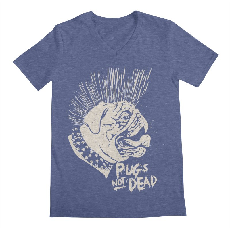 pug's not dead Men's Regular V-Neck by SOE