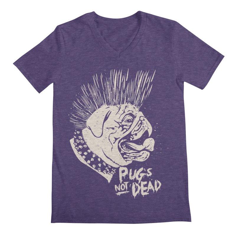 pug's not dead Men's Regular V-Neck by SOE