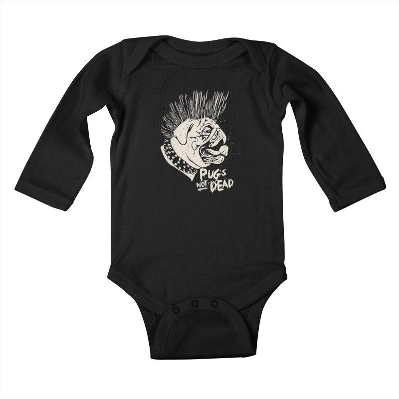 pug's not dead Kids Baby Longsleeve Bodysuit by SOE
