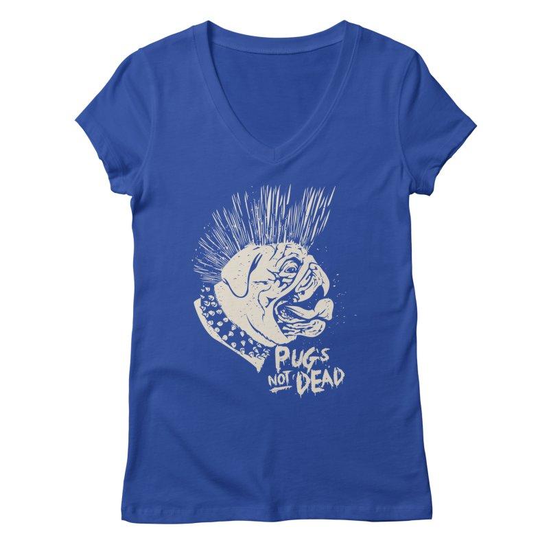 pug's not dead Women's V-Neck by SOE