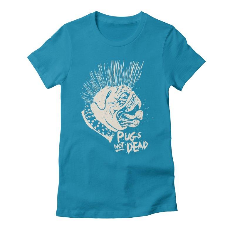 pug's not dead Women's Fitted T-Shirt by SOE