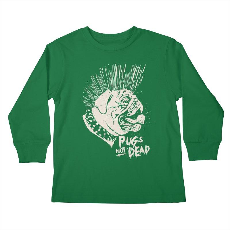 pug's not dead Kids Longsleeve T-Shirt by SOE