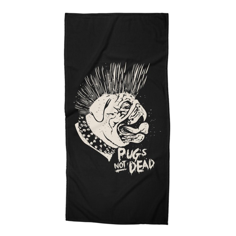pug's not dead Accessories Beach Towel by SOE