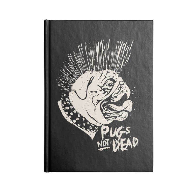 pug's not dead Accessories Blank Journal Notebook by SOE