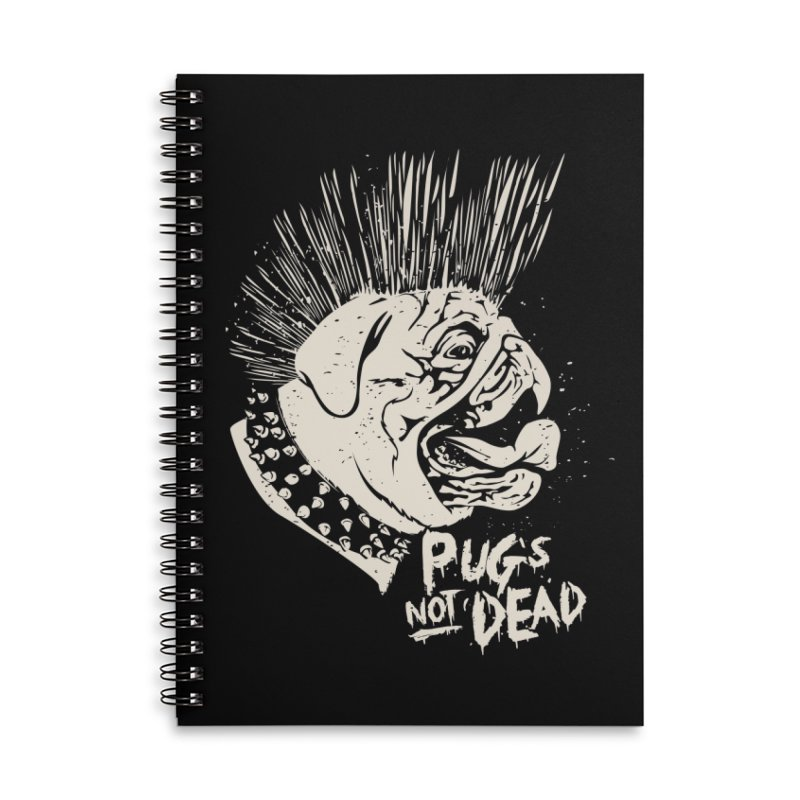 pug's not dead Accessories Lined Spiral Notebook by SOE