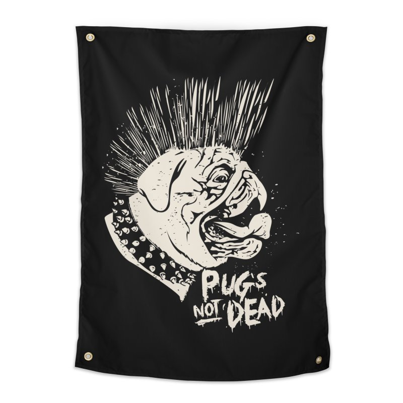 pug's not dead Home Tapestry by SOE
