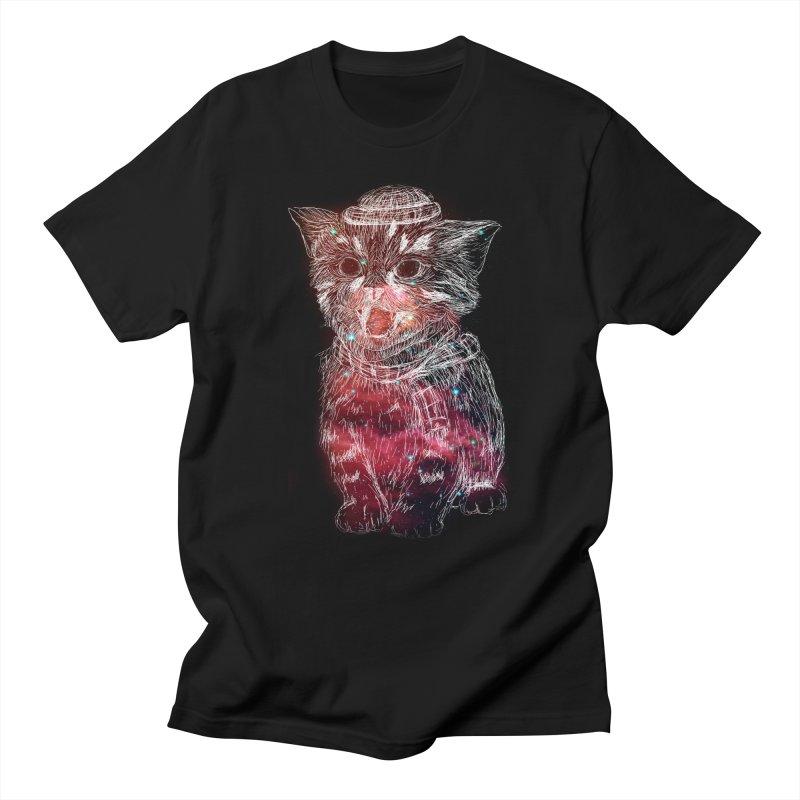 galaxy cat Men's T-Shirt by SOE