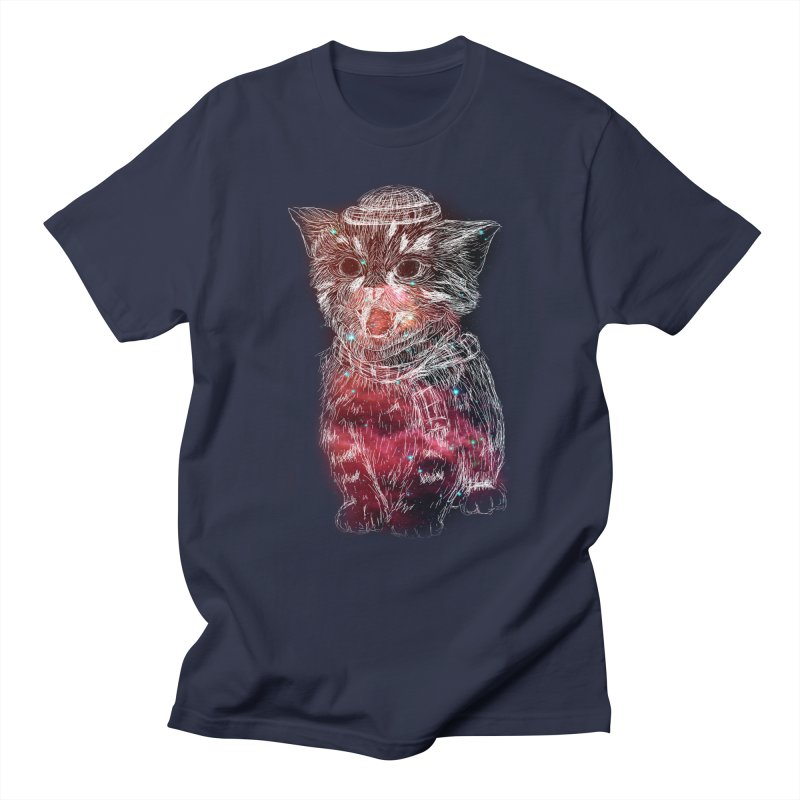 galaxy cat Men's T-shirt by SOE