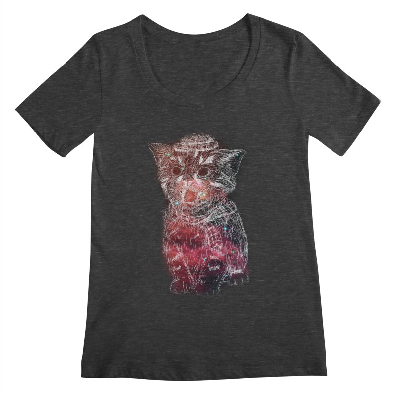 galaxy cat Women's Scoopneck by SOE
