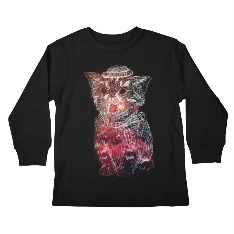 galaxy cat Kids Longsleeve T-Shirt by SOE