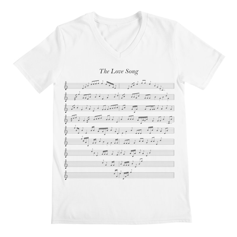 the love song Men's Regular V-Neck by SOE