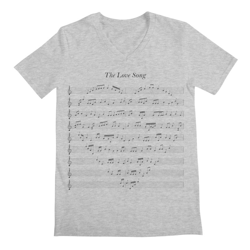 the love song Men's V-Neck by SOE