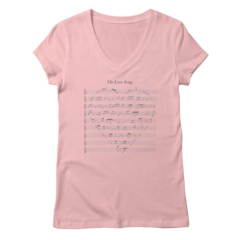 the love song Women's Regular V-Neck by SOE