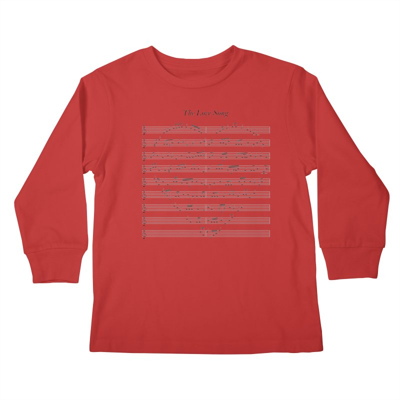 the love song Kids Longsleeve T-Shirt by SOE