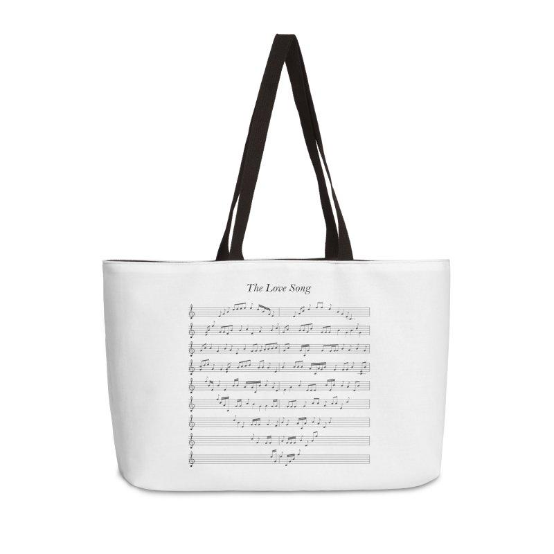 the love song Accessories Weekender Bag Bag by SOE
