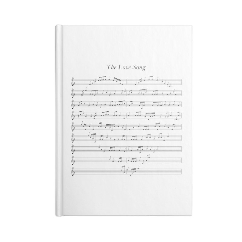the love song Accessories Blank Journal Notebook by SOE