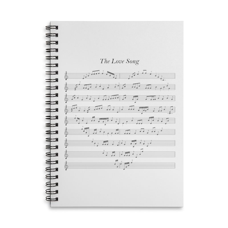 the love song Accessories Lined Spiral Notebook by SOE