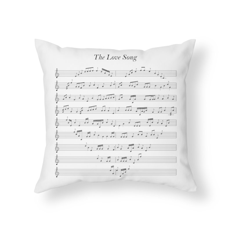 the love song Home Throw Pillow by SOE