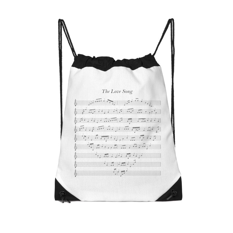 the love song Accessories Drawstring Bag Bag by SOE