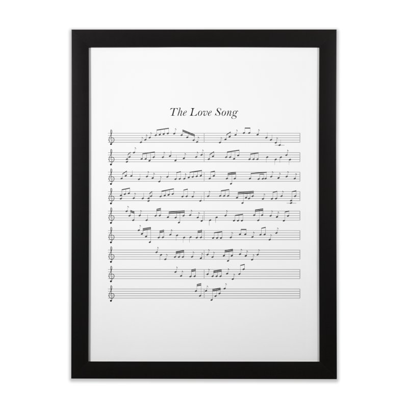 the love song Home Framed Fine Art Print by SOE